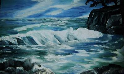 Ocean Waves Print by Christy Saunders Church