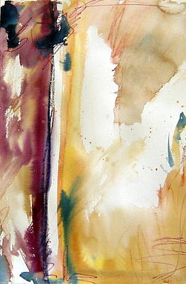 Abstract Painting - Ocher Abstract by Rachel Dutton