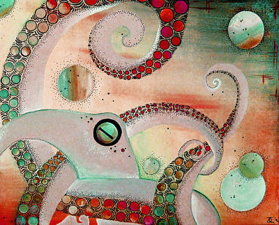 Octopus Tangle Original by Adrienne McMahon