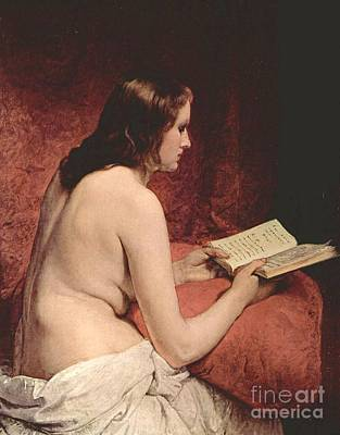 Hayez Painting - Odalisque With Book by Pg Reproductions