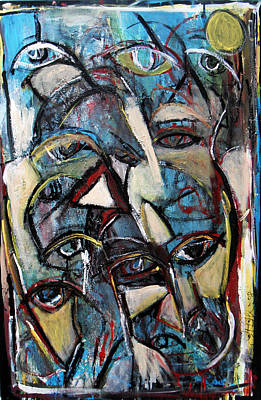 Abstract Painting - Ode To The Gods  by Jon Baldwin  Art