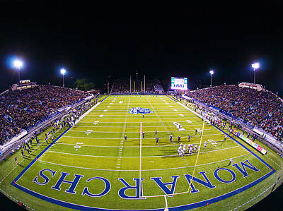 Odu Football At Foreman Field Print by Old Dominion University