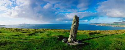 Ogham Stone, Dunmore Head, Dingle Print by The Irish Image Collection