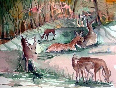 Oh Dear My Deer Print by Mindy Newman