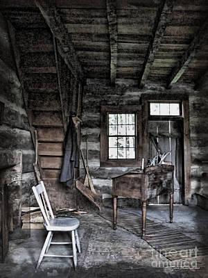 Ohio Cabin Print by Joan  Minchak
