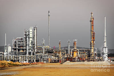 Chemical Photograph - Oil Refinery by Carlos Caetano