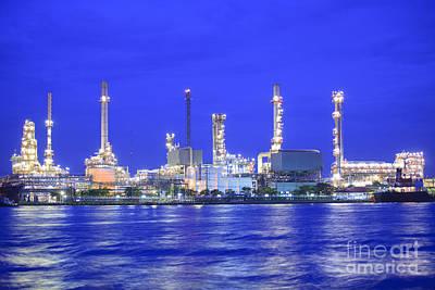 Oil Refinery Factory Original by Anek Suwannaphoom