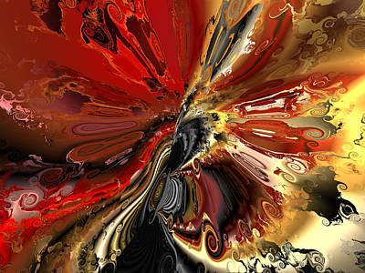 Algorithmic Digital Art - Ok Who Spilled The Paint by Claude McCoy