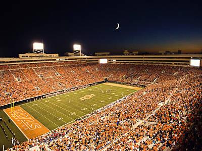 Osu Photograph - Oklahoma State Boone Pickens Stadium Under The Lights by Oklahoma State University