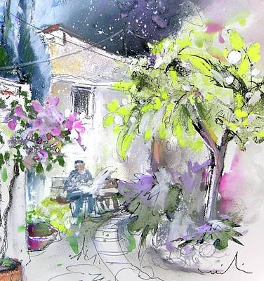 Altea Painting - Old And Lonely In Spain 07 by Miki De Goodaboom