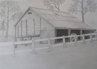 Old Austane Barn Print by Brian Leverton
