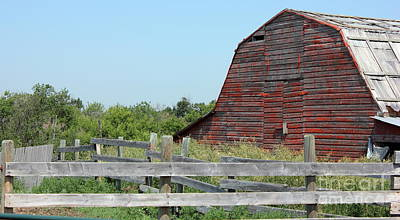 Plains Photograph - Old Barn And Corrals by Jim Sauchyn