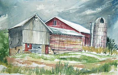 Old Barn Print by Rose McIlrath