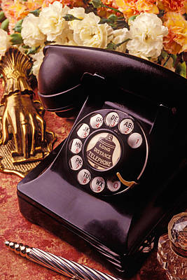Old Bell Telephone Print by Garry Gay