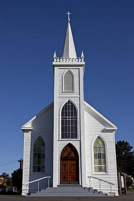 Back Roads Photograph - Old Bodega Church by Garry Gay