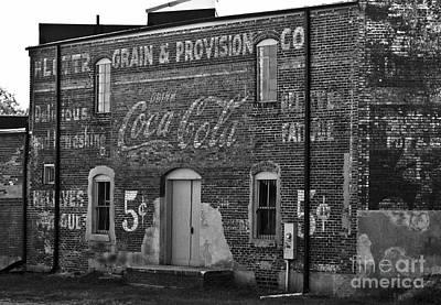 Old Building In Salisbury Nc Print by Wilma  Birdwell