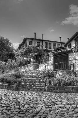 Landscape Photograph - Old Bulgarian House Black And White by Radoslav Nedelchev