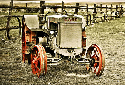 Old Car Photograph - Old Case Tractor 2 by Marilyn Hunt