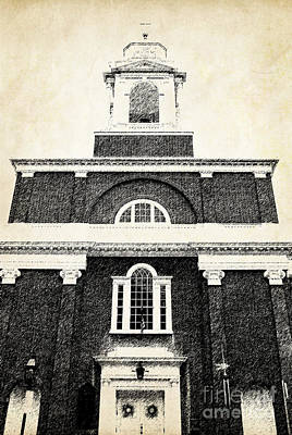 Old Church In Boston Print by Elena Elisseeva