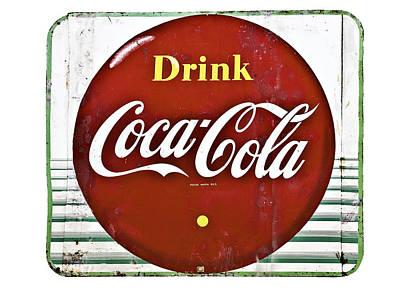 Old Coke Sign Print by Susan Leggett