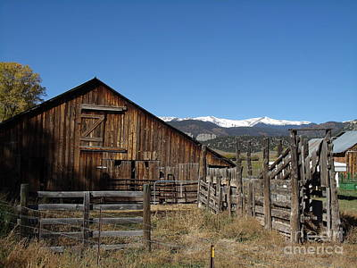 Old Colorado Barn Print by Donna Parlow