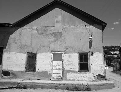 Elizabeth Rose Photograph - Old Cordova Building In Black And White by Elizabeth Rose