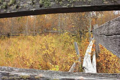 Autumn Photograph - Old Corral by Jim Sauchyn