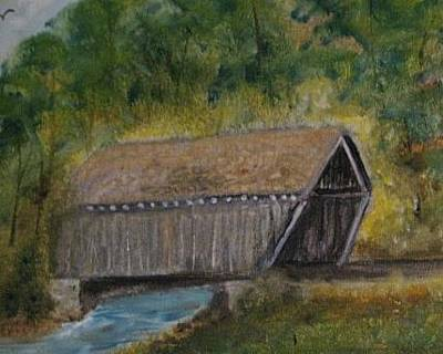 Old Covered Bridge 2 Original by Robert Reily