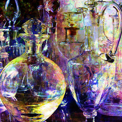 Old Decanters Print by Barbara Berney