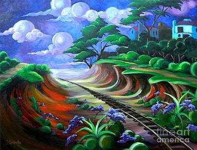 Old Del Mar Tracks Original by Jerri Grindle