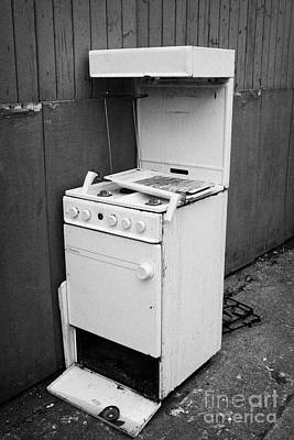 Old Discarded Gas Cooker Waste Print by Joe Fox