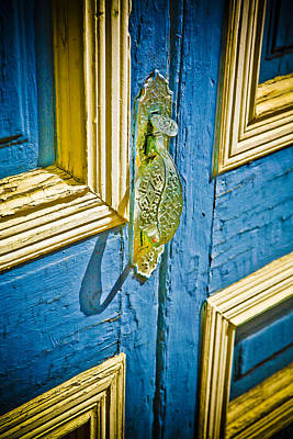 Antique Photograph - Old Door New Paint by Marilyn Hunt