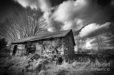 Old Dramatic Barn Hdr Print by Joe Gee