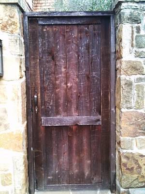 Old English Door Print by Shawn Hughes
