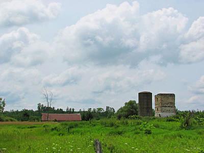Old Farm Ruins 02 Print by Ms Judi