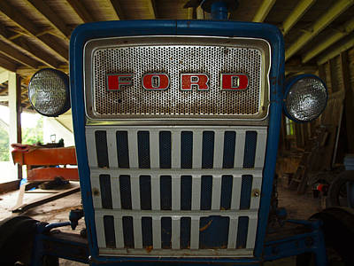 Old Ford Tractor Print by Robert Margetts