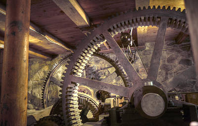 Photograph - Old Gears by Stephen EIS
