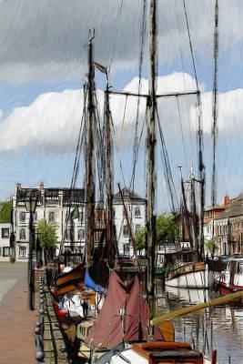 Old Harbor Print by Steve K