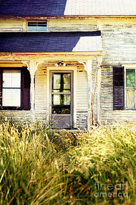 Overgrown Photograph - Old Home by HD Connelly