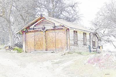 Old Barn Drawing Photograph - Old House by Thomas Medaris