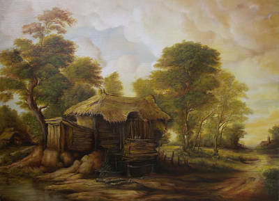 Tablou Painting - Old Hut  by Dan Scurtu
