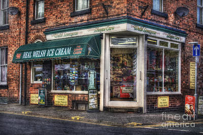 Old Ice Cream Shop Original by Ian Mitchell