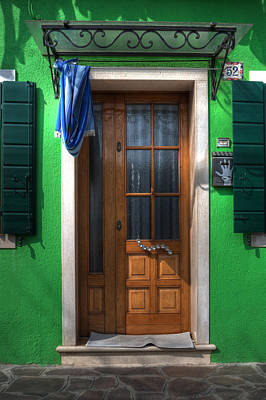 Old Italian Door Print by Joana Kruse