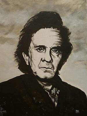 Johnny Cash Painting - Old Johnny by Pete Maier