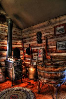 Log Cabin Photograph - Old Log Cabin by Joel Witmeyer