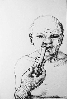 Old Man Print by Louis Gleason