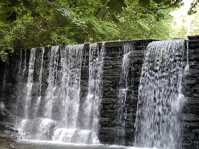 Old Mill Waterfall Print by Bill Cannon