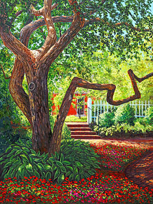 Old Park Tree Print by Elaine Farmer