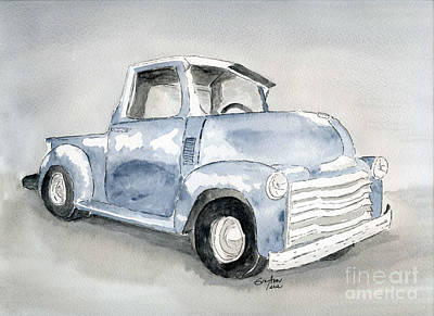 Old Pick Up Truck Print by Eva Ason