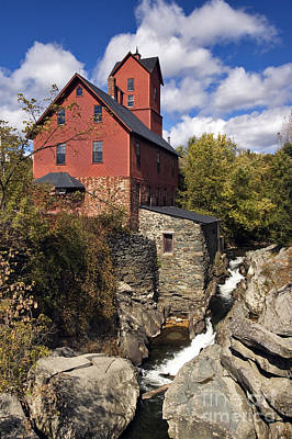 Grist Mill Photograph - Old Red Mill - D000400 by Daniel Dempster